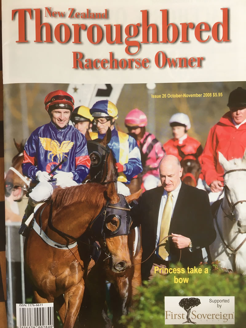 Issue 26, Oct-Nov 2008 – Part-owner John Bromley leads Princess Coup back to scale after winning the Stoney Bridge Stakes.