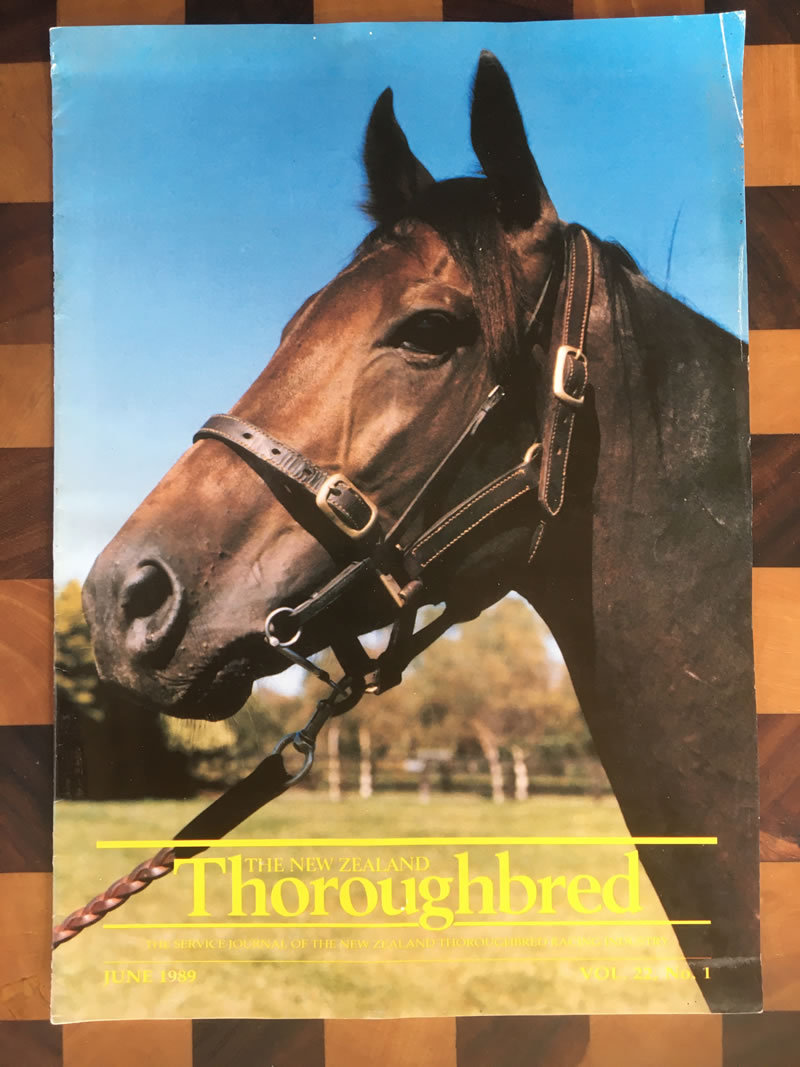 Vol. 22, No. 1, June 1989 – Poetic Prince, Australasia's highest stake earner ($3.35m) before departing from NZ.